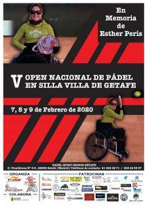 Cartel del V Open Nacional de Pádel en Sevilla